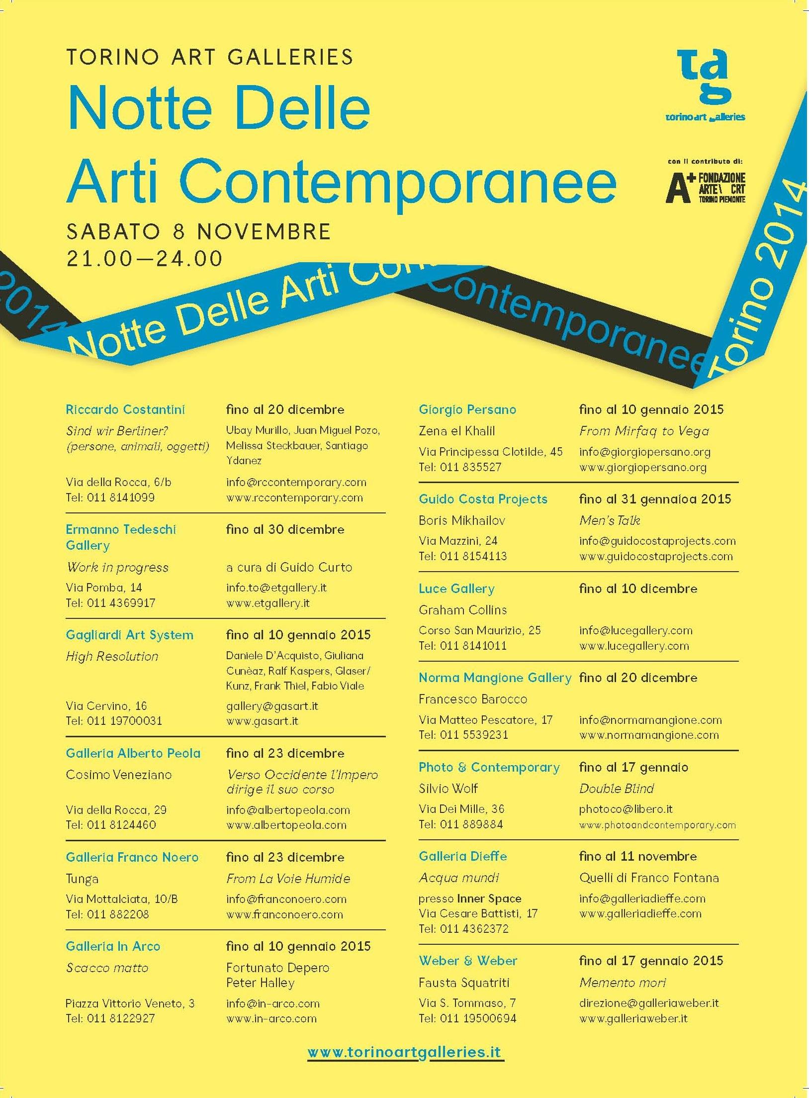 Notte delle Arti Contemporanee 2014