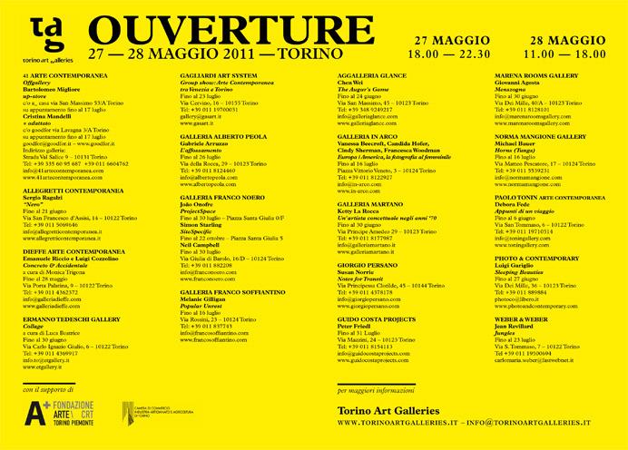 Ouverture 27-28-29 maggio 2011