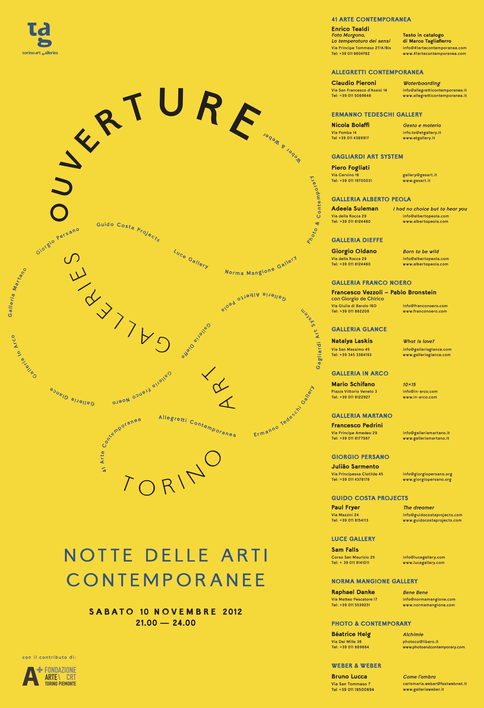 Notte delle arti Contemporanee 2012