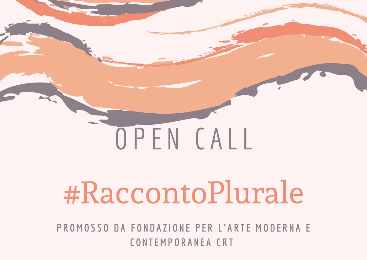 CALL #RaccontoPlurale Bando Fondazione CRT Maggio 2020