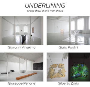 UNDERLINING - Group show of one-man shows